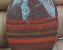 42.20 CT RED IRON JASPER BEAUTIFUL CABOCHON (NATURAL+UNTREATED) X22-79
