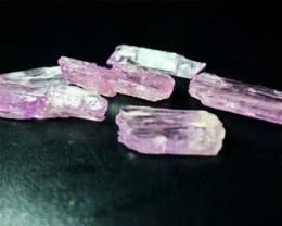 254 CT Natural - Unheated  Pink Kunzaite  Rough Lot