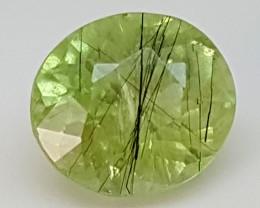 3.25Crt Rutile Peridot  Best Grade Gemstones JI79