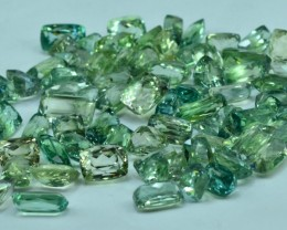 NO Reserve - 688.35 cts 80 PCS Lot of Lush Green Spodumene Gemstone FroM Af