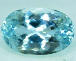No Reserve - 21.80 cts Aqua Blue Spodumene Gemstone