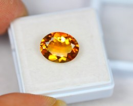 3.96ct Natural Yellow Citrine Oval Cut Lot GW1856