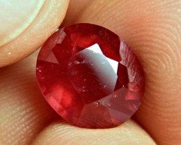7.72 Carat Fiery Red Ruby - Superb