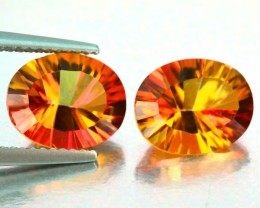 4.75 Cts Beautiful Golden orange Mystic Quartz Oval Cut 10 X 8mm Brazil Gem