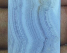 36.40 CT BLUE LACE AGATE  BEAUTIFUL NATURAL CABOCHON x17-117