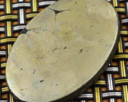 Genuine 110.00 Cts Golden Pyrite Cabochon