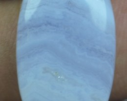 15.50 CT BLUE LACE AGATE  BEAUTIFUL NATURAL CABOCHON x17-122