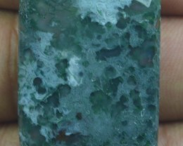 37.55 CT BEAUTIFUL MOSS AGATE (NATURAL+UNTREATED) X25-145