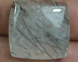 21.50 Ct Rutilated Quartz Natural Untreated Rutile Cabochon X44-60
