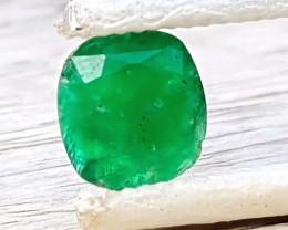 NR 1.35 Ct Natural Dark Green Emerald Gemstone