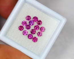 1.87ct Natural Rhodolite Garnet Round Cut Lot V1795
