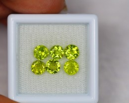 3.33ct Natural Green Peridot Round Cut Lot V1804