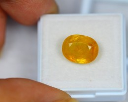 7.29Ct Natural Yellow Sapphire Oval Cut Lot LZ906