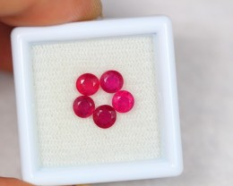 2.60ct Natural Ruby Round Cut Lot V1825