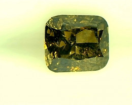 0.33ct Brownish Green Diamond , 100% Natural Untreated