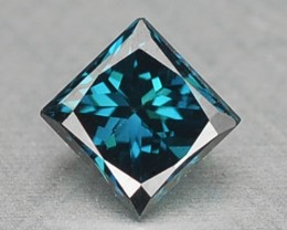 0.11 Cts Natural Fancy Blue Diamond Square Princess Africa