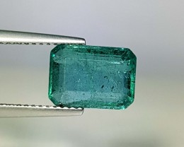 3.39 ct AAA Top Green Emerald Cut Natural Emerald