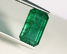 4.48 ct Collective Gem Green Emerald Cut Natural Emerald