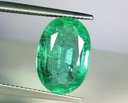 6.68 ct Collector Gem Green Oval Cut Natural Emerald