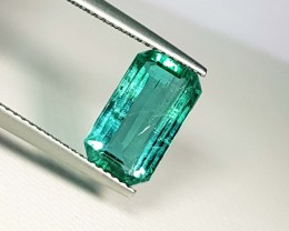 3.41 ct Super Top Quality Green Emerald Cut Natural Emerald