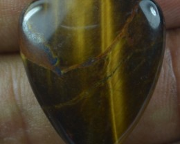 23.10 Ct  TIGERS EYE UNTREATED NATURAL BEAUTIFUL CABOCHON X28-38