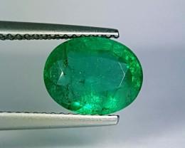 2.55 ct Excellent Green Oval Cut Natural Emerald