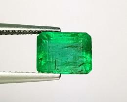 2.48 ct Lovely Gem Green Emerald Cut Natural Emerald