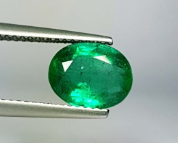 2.47 ct Marvelous Green Oval Cut Natural Emerald