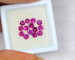 2.05Ct Natural Rhodolite Garnet Round Cut Lot LZB225
