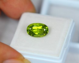4.10ct Natural Green Peridot Oval Cut Lot P259