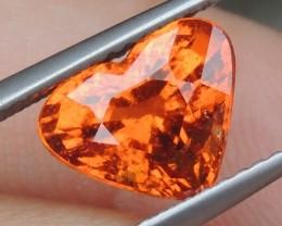2.93cts Mandarin Garnet,  Untreated Vivid Stone,  Clean