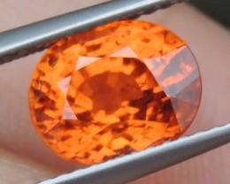 3.21cts Mandarin Garnet,  Untreated Vivid Stone,  Clean