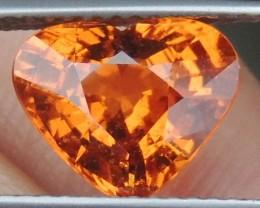 3.28cts Mandarin Garnet,  Untreated Vivid Stone,  Clean