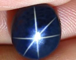 7.07 Carat Thailand Diffusion Blue Star Sapphire - Gorgeous