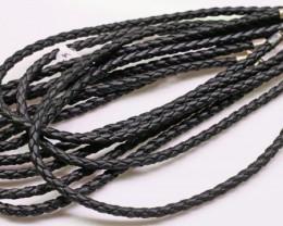 parcel 8 black leather necklaces Bu 2490