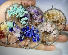 Six Tree of Life Gemstones jewelry JGG 189