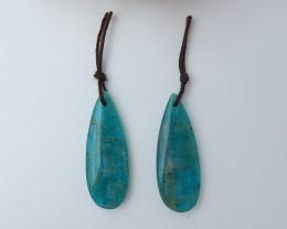 27.5ct Natural Amazonite Earring Pair (18072305)