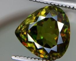 3.40 Crt Natural Chrome Sphene Faceted Gemstone