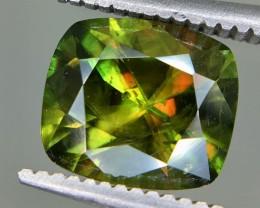 1.80Crt Natural Chrome Sphene Faceted Gemstone