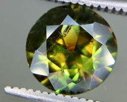 1.50 Crt Natural Chrome Sphene Faceted Gemstone