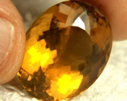 36.8 Carat VVS1 Butterscotch Brazil Citrine - Gorgeous