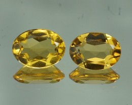8X6 MM AAA QUALITY YELLOW BERYL BRAZIL GEMSTONE - YB135