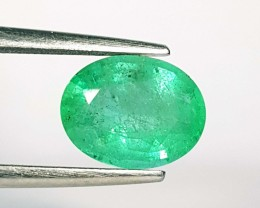 2.41 ct AAA Top Green Oval Cut Natural Emerald