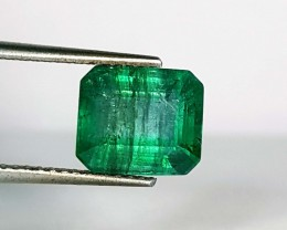 2.87 ct Lovely Gem Green Emerald Cut Natural Emerald