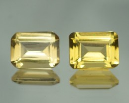 2.99 ct AAA QUALITY YELLOW BERYL  PAIR BRAZIL GEMSTONE - YB160
