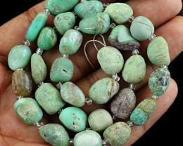 Genuine 135.00 Cts Chrysoprase Untreated Beads Strand