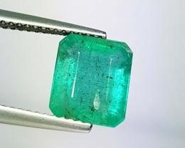 3.03 ct Top Quality Green Emerald Cut Natural Emerald