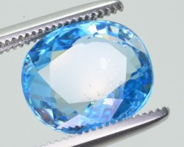 4 CT Natural Amazing Color Blue Zircon
