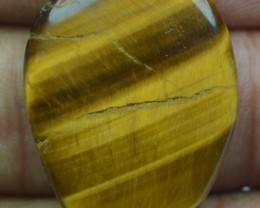 16.35 Ct  TIGERS EYE UNTREATED NATURAL BEAUTIFUL CABOCHON X28-44