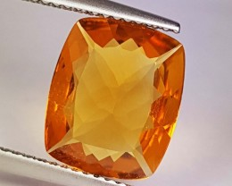 3.75 ct Amazing Gem Golden Whiskey Cushion Cut Natural Citrine